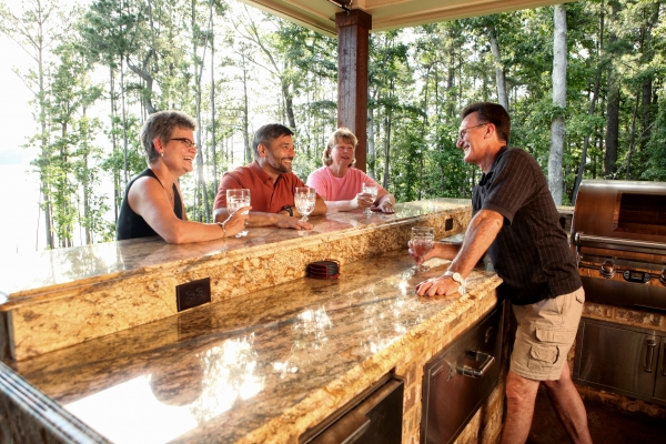 Outdoor Kitchen The  Bluffs at Mill Branch Lake Nacogdoches
